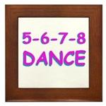 5-6-7-8 Dance Framed Tile