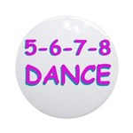5-6-7-8 Dance Ornament (Round)