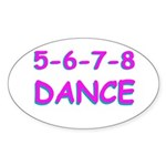 5-6-7-8 Dance Oval Sticker