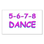 5-6-7-8 Dance Rectangle Sticker