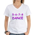 5-6-7-8 Dance Women's V-Neck T-Shirt