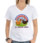 All American Breeds Women's V-Neck T-Shirt