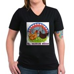 All American Breeds Women's V-Neck Dark T-Shirt