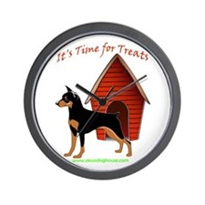 Min Pin Treat Time Wall Clock