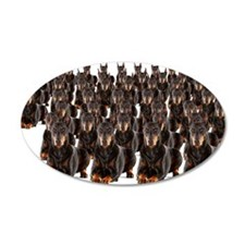 Large group of Dobermans on  Wall Decal