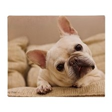 French bulldog. Throw Blanket