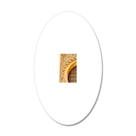 Imposing traditional Morocca 20x12 Oval Wall Decal
