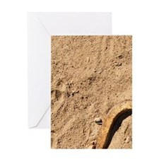 Horseshoes and stake Greeting Card