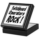 Switchboard Operators Rock ! Keepsake Box