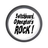 Switchboard Operators Rock ! Wall Clock
