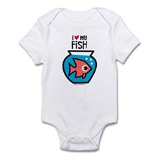 I Love My Fish Infant Bodysuit