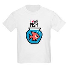 I Love My Fish Kids T-Shirt