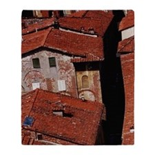 Italy, Tuscany, Lucca, view over red Throw Blanket