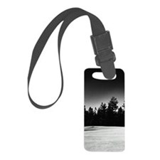 Flag marking hole on golf course Luggage Tag