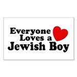 Everyone loves a Jewish Boy Rectangle Sticker