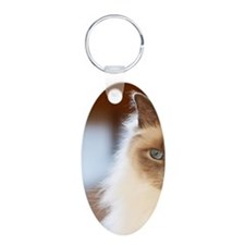 Sacred birman cat with blue Keychains