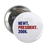"Newt. President. 2008. 2.25"" Button (100 pack)"