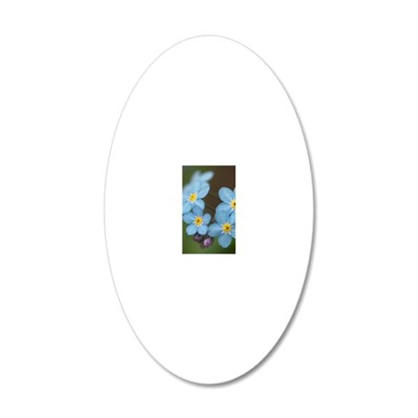 Beautiful blue Forget-me-not 20x12 Oval Wall Decal