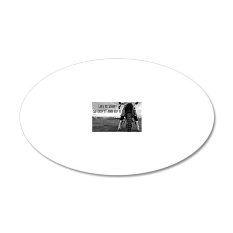 GRIP IT AND RIP IT 20x12 Oval Wall Decal