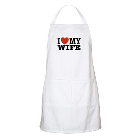 I Love My Wife BBQ Apron