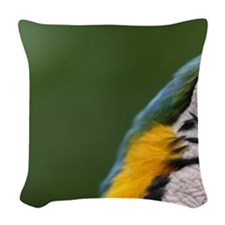 Ecuador, Guayaquil, blue and y Woven Throw Pillow
