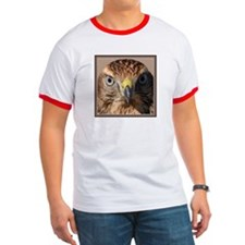 Redtail Hawk Red/White T