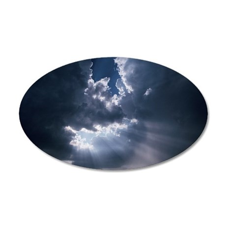 Clouds 35x21 Oval Wall Decal