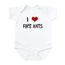 I Love Fire Ants Infant Bodysuit