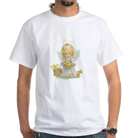 Easter Angel White T-Shirt