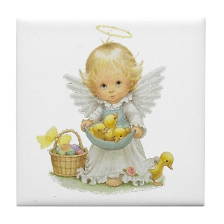 Easter Angel Tile Coaster