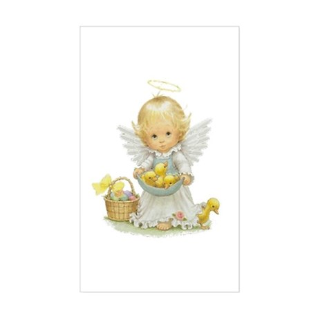 Easter Angel Rectangle Sticker