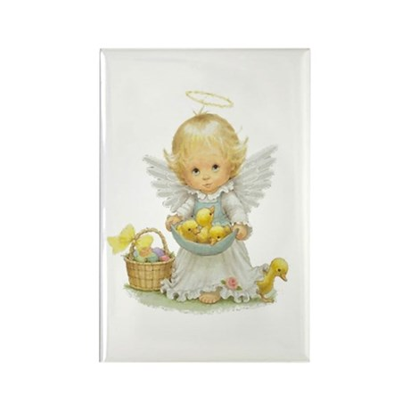 Easter Angel Rectangle Magnet