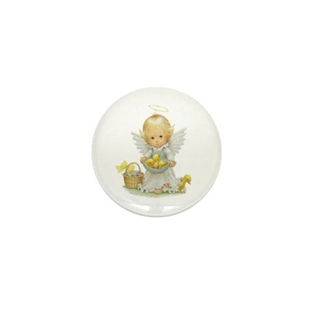 Easter Angel Mini Button