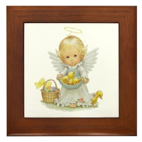 Easter Angel Framed Tile