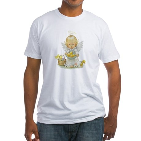 Easter Angel Fitted T-Shirt