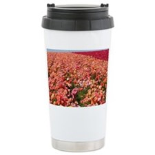 Field of Ranunculus Flowers Ceramic Travel Mug