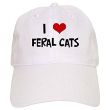 I Love Feral Cats Baseball Cap