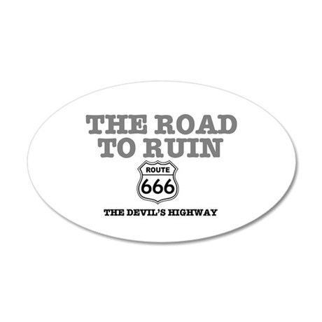 THE ROAD TO RUIN - THE DEVIL 35x21 Oval Wall Decal