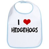 I Love Hedgehogs Bib