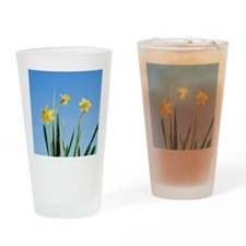 Daffodils in grass Drinking Glass