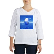 The image of the earth Women's Long Sleeve Shirt (3/4 Sleeve)