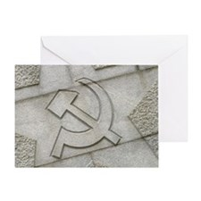Hammer and sickle symbol Greeting Card