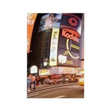 USA, New York, Time Square at nig Rectangle Magnet
