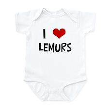 I Love Lemurs Infant Bodysuit