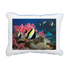 Moorish idol Zanclus com Rectangular Canvas Pillow