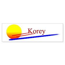 Korey Bumper Bumper Sticker