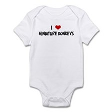 I Love Miniature Donkeys Infant Bodysuit