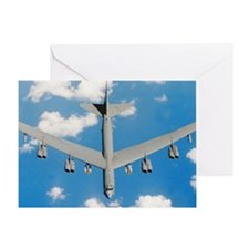 Boeing B52H Stratofortress plane in  Greeting Card