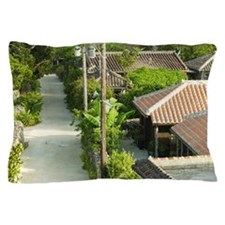 Traditional village, Taketomi, Okinawa Pillow Case