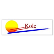 Kole Bumper Car Sticker